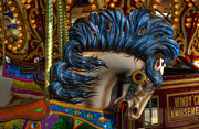 Fairgrounds Framed Prints - Carousel Beauty Star Of The Show Framed Print by Bob Christopher