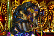 Carousel Horse Prints - Carousel Beauty Waiting For A Rider Print by Bob Christopher