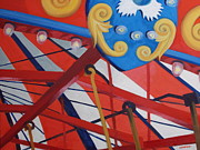 Merry-go-round Painting Originals - Carousel  Canopy by Robert Rohrich