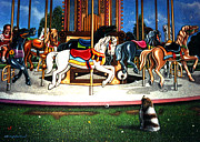 Cristopher Ernest Prints - Carousel center detail Print by Cristophers Dream Artistry