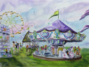 Carousel Painting Originals - Carousel by Debra Walters