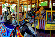 Bobcats Framed Prints - Carousel Fun Framed Print by Bob Whitt
