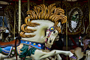 Amusement Ride Framed Prints - Carousel horse - 4 Framed Print by Paul Ward