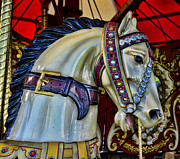 Amusement Ride Framed Prints - Carousel Horse - 7 Framed Print by Paul Ward