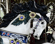 Amusement Ride Prints - Carousel horse - 9 Print by Paul Ward
