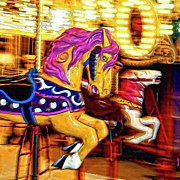 Kentucky Digital Art - Carousel Horse - D006484d by Daniel Dempster