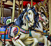 Amusement Ride Framed Prints - Carousel Horse 2 Framed Print by Paul Ward