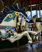 Amusement Ride Posters - Carousel Horse 5 Poster by Paul Ward