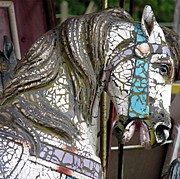 Amusements Photos - Carousel Horse by Marvin Blatt