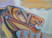 Carousel Horse Painting Framed Prints - Carousel Horse Framed Print by Sue Steiner
