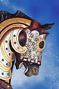 Amusement Park Prints - Carousel Horse Print by Tom Mc Nemar