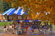Boston Common Prints - Carousel Print by Joann Vitali