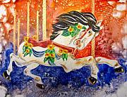 Carousel Print by Marsha Elliott