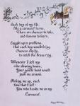 Carousel Poem Print by Peg Whiting