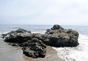 Carpinteria State Beach Rocks Print by Bransen Devey