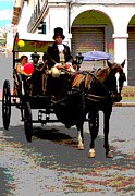 Carriage Horse Photos - Carriage Ride In Cuenca by Al Bourassa