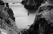 Carrick-a-rede Posters - Carrick A Rede Rope Bridge County Antrim Ireland Poster by Joe Fox