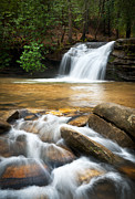 H2o Framed Prints - Carrick Creek Falls - Table Rock State Park SC Framed Print by Dave Allen