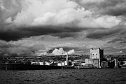 Sea View Art - Carrickfergus Castle And Pier Carrick County Antrim Northern Ireland Uk Viewed From The Sea by Joe Fox