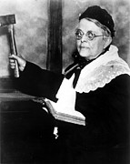 Fanatic Photo Framed Prints - Carrie Nation, Circa 1900 Framed Print by Everett