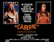 Lobbycard Photo Framed Prints - Carrie, Sissy Spacek, 1976 Framed Print by Everett