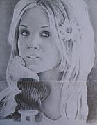 Daisies Drawings Prints - Carrie Underwood - Play On Print by Michael Trujillo