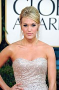 Updo Metal Prints - Carrie Underwood At Arrivals For The Metal Print by Everett