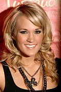 Chain Necklace Framed Prints - Carrie Underwood At In-store Appearance Framed Print by Everett