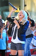 Rockefeller Plaza Framed Prints - Carrie Underwood On Stage For Nbc Today Framed Print by Everett