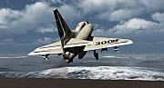 Aviation Images Posters - Carrier Launch Poster by Richard Rizzo