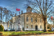 Confederate Flag Prints - Carroll County Courthouse Print by Mark Martin