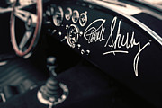 Signed Photo Prints - Carroll Shelby Signed Dashboard Print by Paul Bartell