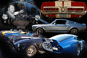 Photomanipulation Photo Prints - Carroll Shelby Tribute Print by Bill Dutting