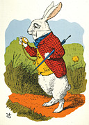 Tenniel Posters - Carroll: White Rabbit 1865 Poster by Granger