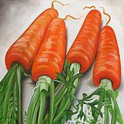 Vegetables Paintings - Carrots by Ilse Kleyn