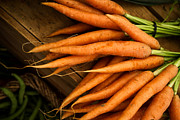 Food Photography Framed Prints - Carrots Framed Print by Tanya Harrison