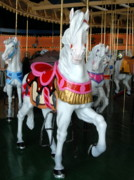 White Horse Photographs Greeting Cards Prints - Carrousel 32 Print by Joyce StJames