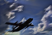 C130 Prints - Carrying a Heavy Load Print by Douglas Barnard