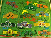Gond Paintings - Cars by Bhuri Bai