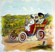 Mile Marker Prints - Cars. En Tour, Illustration Of Three Print by Everett