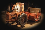Disney California Adventure Framed Prints - Cars Land Cow Tractor Framed Print by Heidi Smith