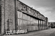 Hangar Framed Prints - Carson Gym BW Framed Print by JC Findley
