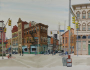 Pittsburgh Painting Originals - Carson Street Southside Pittsburgh by Robert Bowden