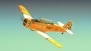 Carter Originals - Carter Clark and T-6 Texan Race 33 Midnight Rendevous by Gus McCrea