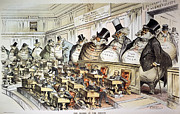 Monopoly Metal Prints - Cartoon: Anti-trust, 1889 Metal Print by Granger