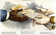 1875 Photos - Cartoon: Civil Rights 1875 by Granger