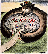 Personification Prints - Cartoon: Cold War Berlin Print by Granger