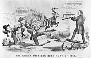 Abolition Metal Prints - Cartoon: Election Of 1856 Metal Print by Granger