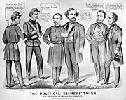 Brinton Framed Prints - Cartoon: Election Of 1864 Framed Print by Granger