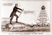 Lithographs Photos - Cartoon Of The Presidential Election by Everett